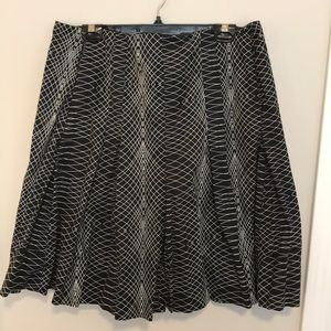 Ellen Tracy fit and flare skirt with pleats.